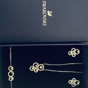 Swarovski-NEW!  Un-worn. Necklace, bracelet, ear.